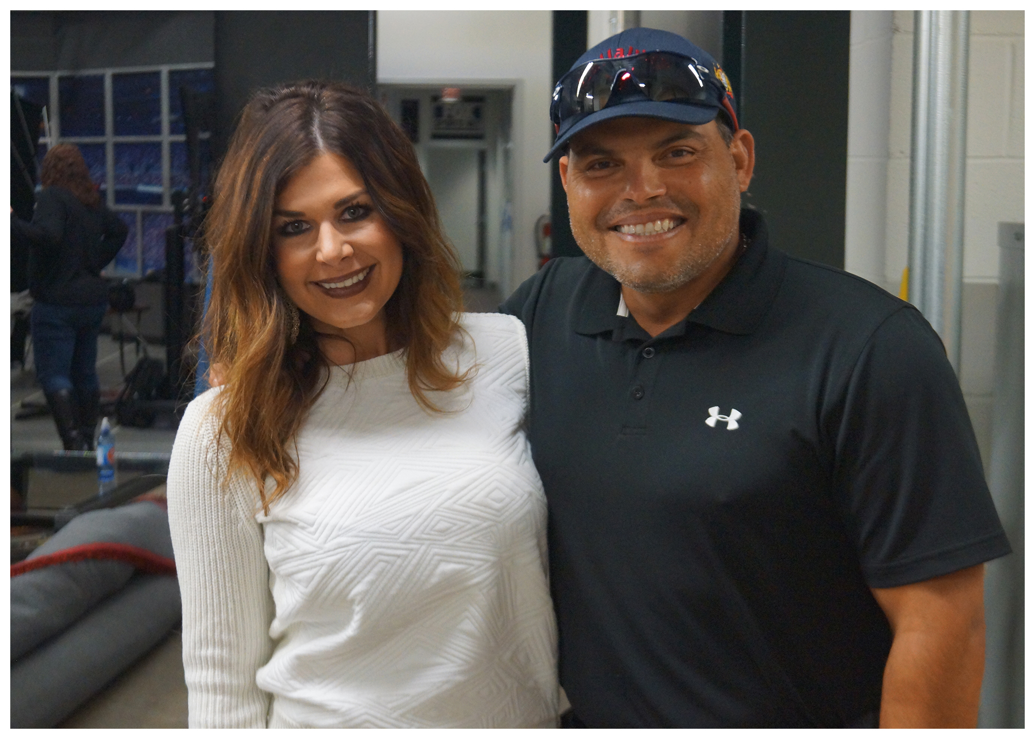 "Leigh Costa and Ivan ""Pudge"" Rodriguez"